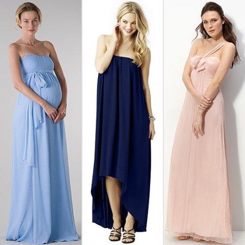 uzun abiye hamile elbisesi modelleri