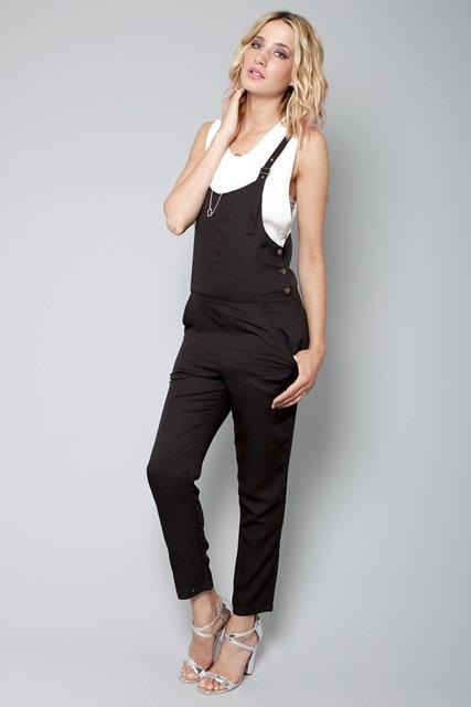 siyah uzun tulum modeli
