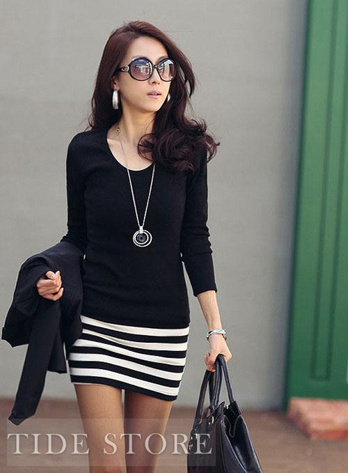 Korean Style Slim Carefree Long Sleeve Dress