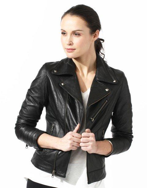 bayan deri ceket modeli