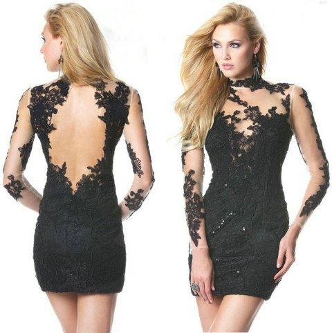 af1a1493372ac siyah-dantel-mini-abiye-elbise-modeli | AnneCocuk.Co – Kadın / Çocuk ...