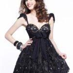 siyah-mini-abiye-elbise-modeli