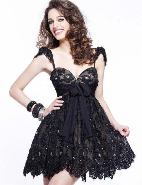 d880b949e7bbc siyah-mini-abiye-elbise-modeli | AnneCocuk.Co – Kadın / Çocuk ...