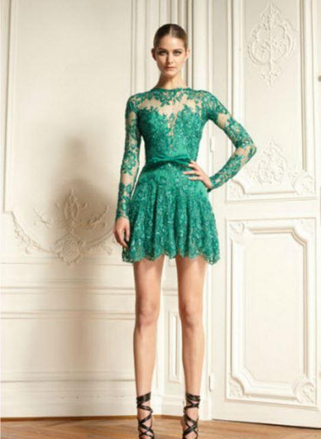 ff5b1180aa214 yesil-mini-abiye-elbise-modeli | AnneCocuk.Co – Kadın / Çocuk ...