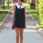 bebe yaka mini elbise