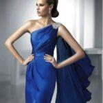 gece mavisi mezuniyet elbisesi modeli