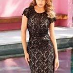 siyah dantel abiye elbise modelli