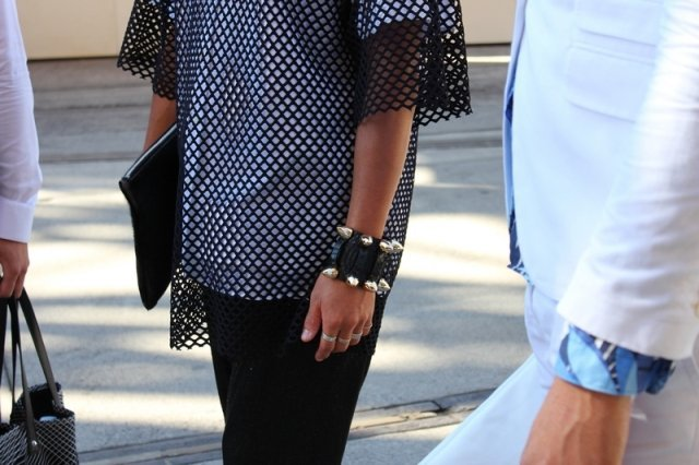 siyah file bluz modeli