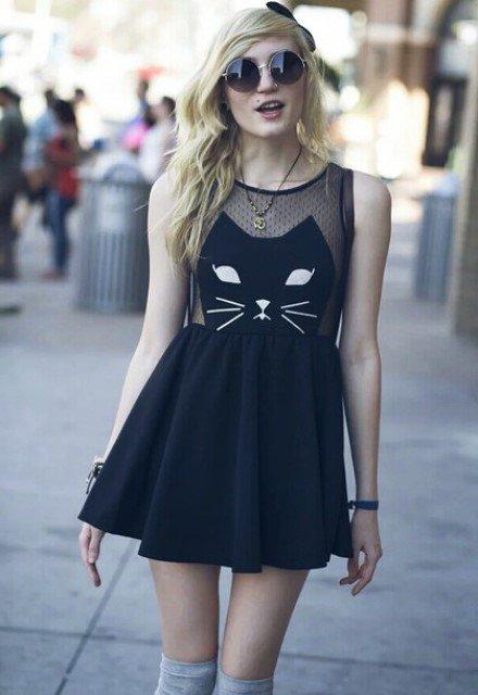 siyah file elbise modelleri