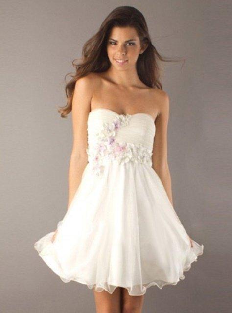 beyaz mezuniyet elbisesi modeli