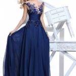 gece mavisi gece elbisesi
