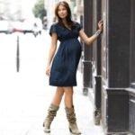 modern hamile elbisesi modeli