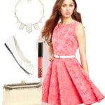 pembe lise mezuniyeti elbise modeli