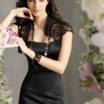 siyah bolerolu abiye elbise modelleri