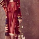 uzun bohem elbise modeli