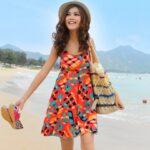 en trend plaj elbisesi modeli