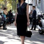 sade siyah abiye elbise modeli