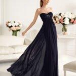 straplez uzun abiye elbise modeli