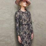 uzun kollu abiye elbise modeli