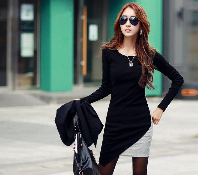 Uzun Kollu Elbise Modelleri