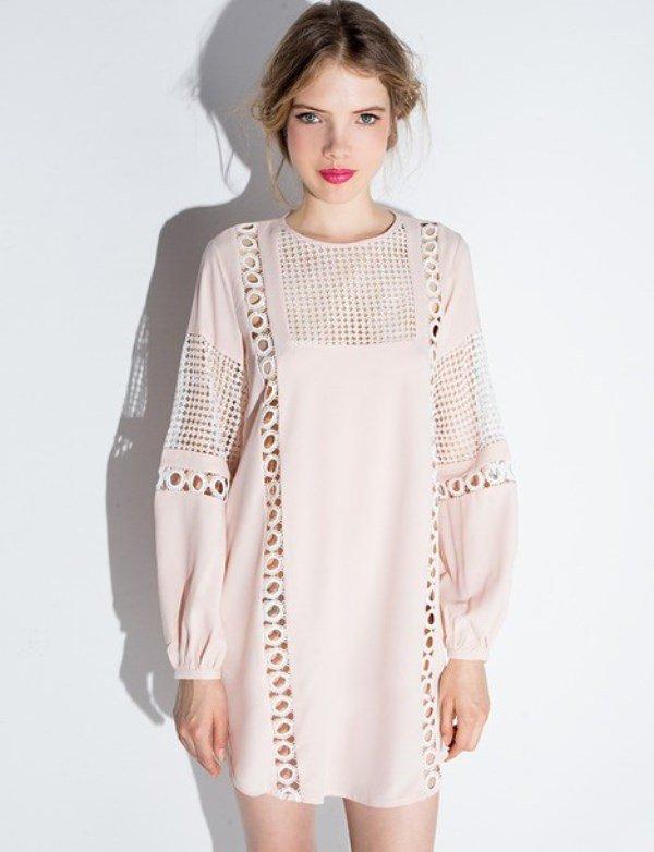 uzun kollu tunik elbise