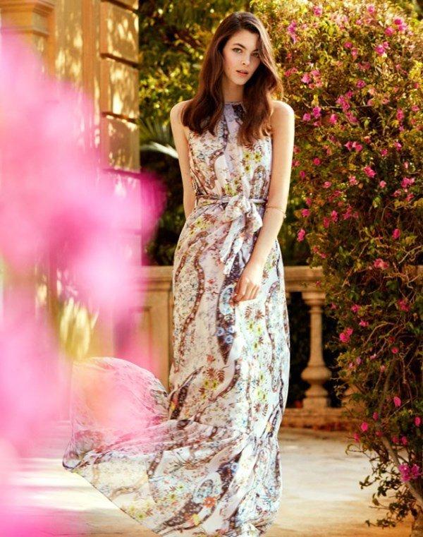 koton uzun elbise modeli