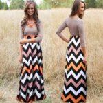 kollu uzun elbise modeli