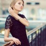 dantel elbise modeli