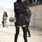 siyah-triko-elbise-modeli