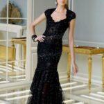 siyah uzun gece elbisesi