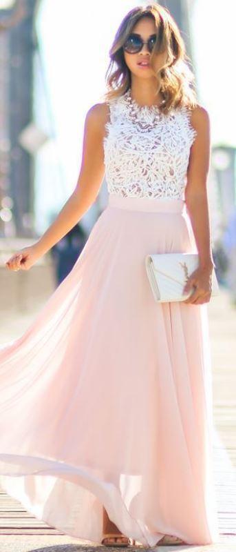 pembe mezuniyet elbisesi modeli