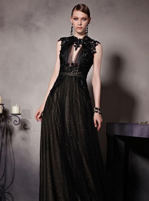 siyah mezuniyet elbisesi modeli