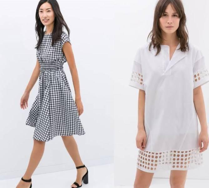 2017 zara yaz elbise modeli