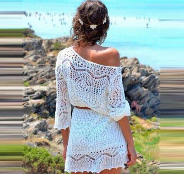 dantel plaj elbisesi