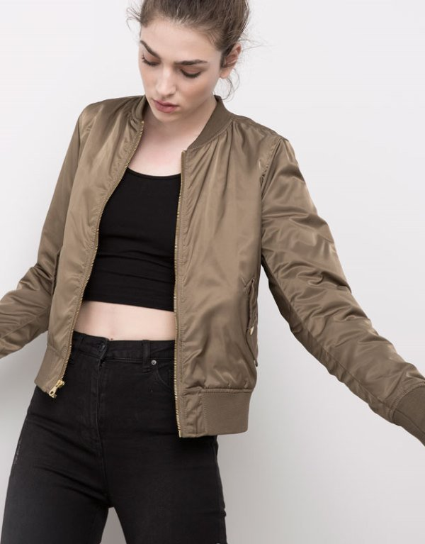 Bomber ceket pull and bear