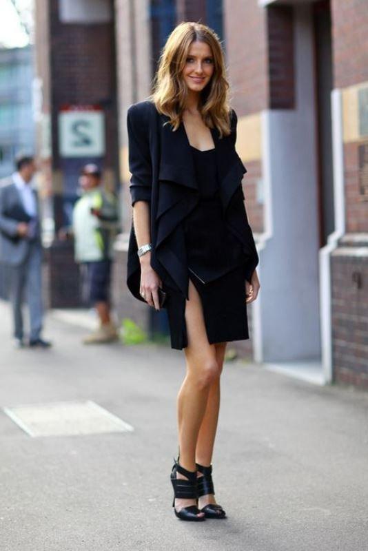 en tarz siyah elbise modelleri