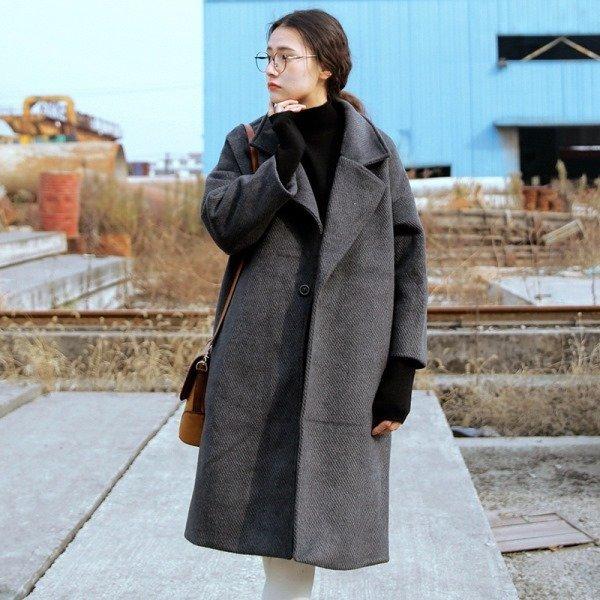 gri Oversized palto modelleri