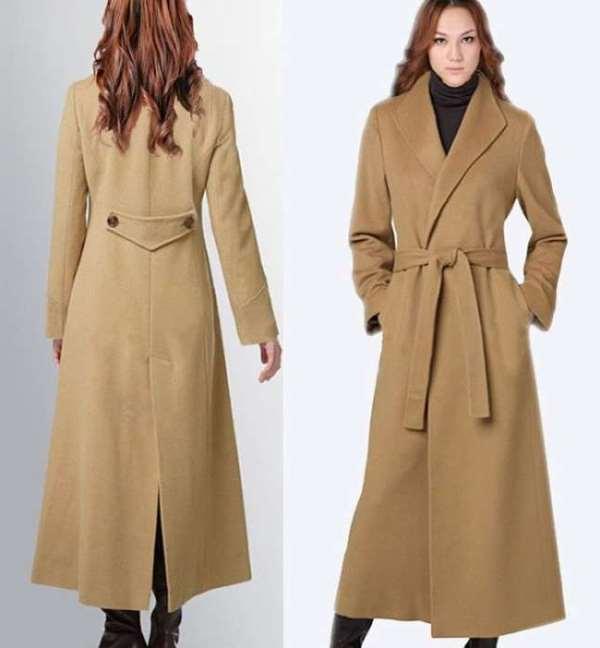 kahverengi uzun palto modeli