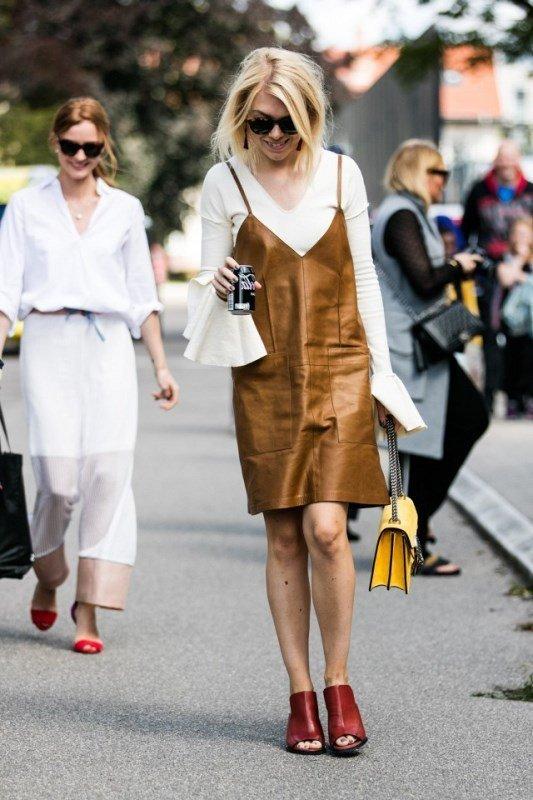 kahverengi elbise modeli