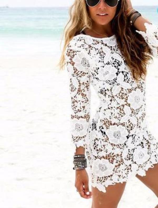 dantel plaj elbisesi modeli