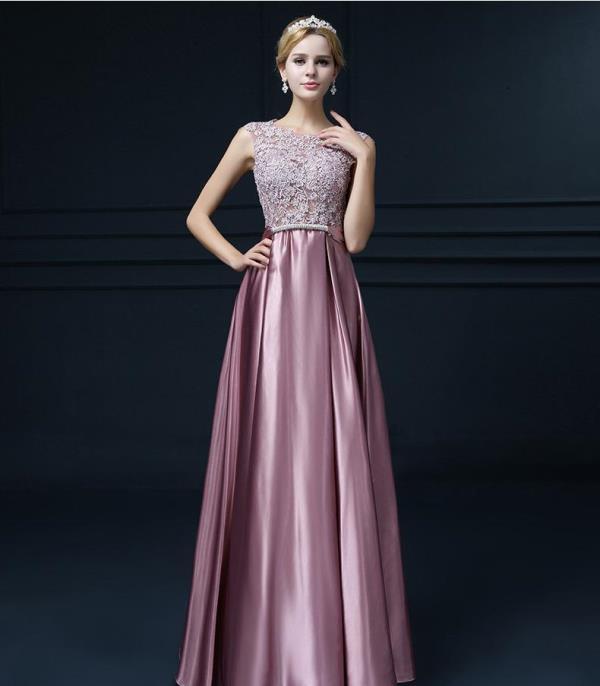 saten abiye elbise modeli